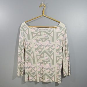 MARC BY MARC JACOBS Printed Boatneck Knit Top  S